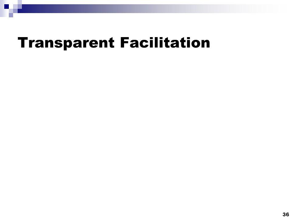 Transparent Facilitation 36