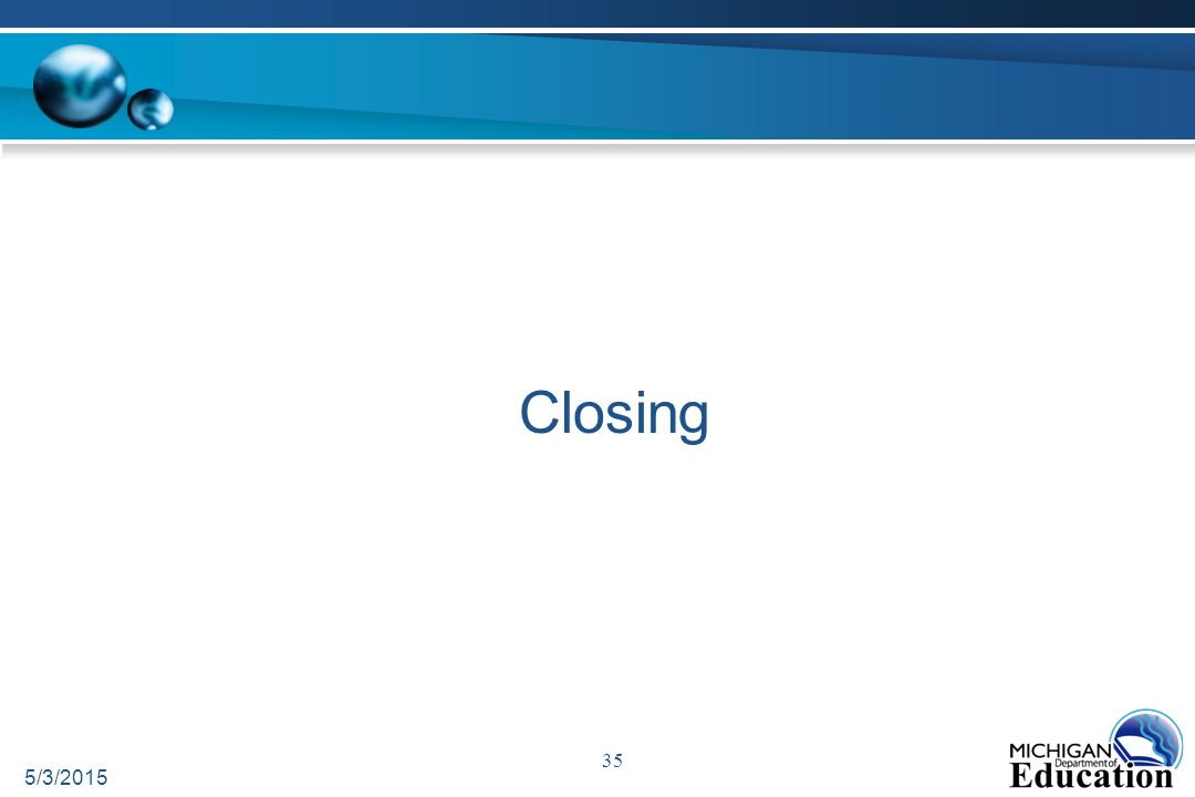 Closing 5/3/2015 35