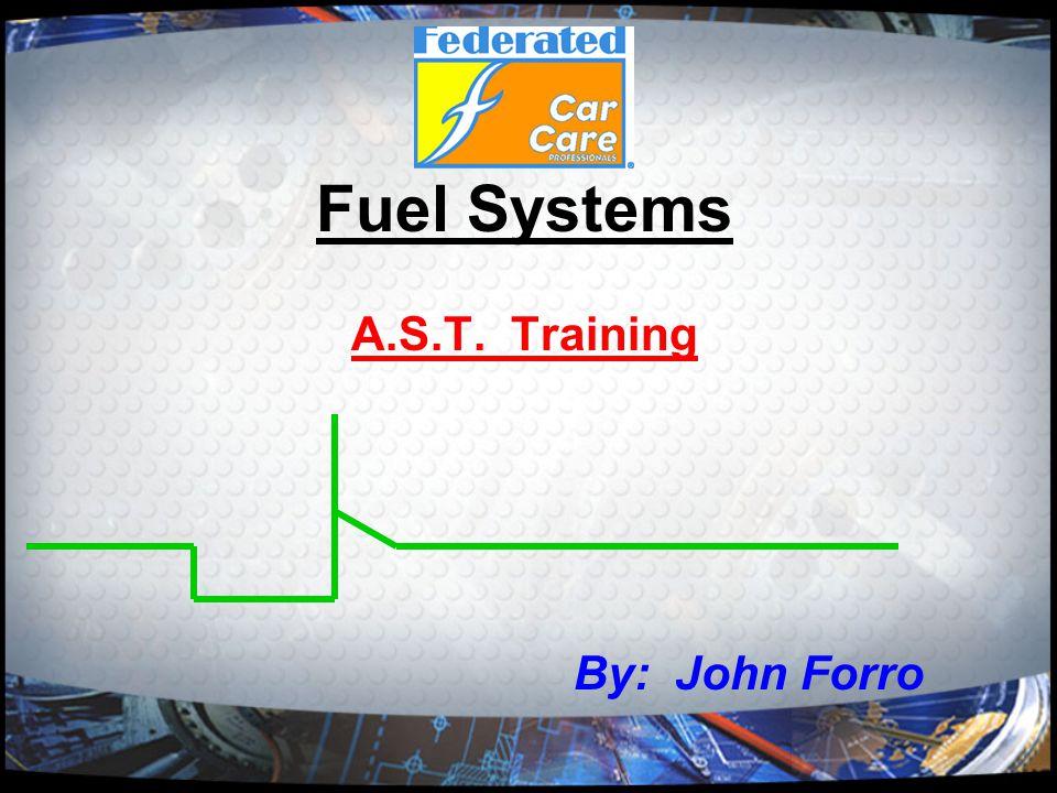 Course Agenda Discuss the various types of fuel systems 1) Carbureted 2) TBI 3) MPI 4) SFI 5) SCFI 6) Return-less Discuss various fuel pump testing procedures 1) Pressure 2) Volume 3) Dead head 4) RPM 5) Amperage