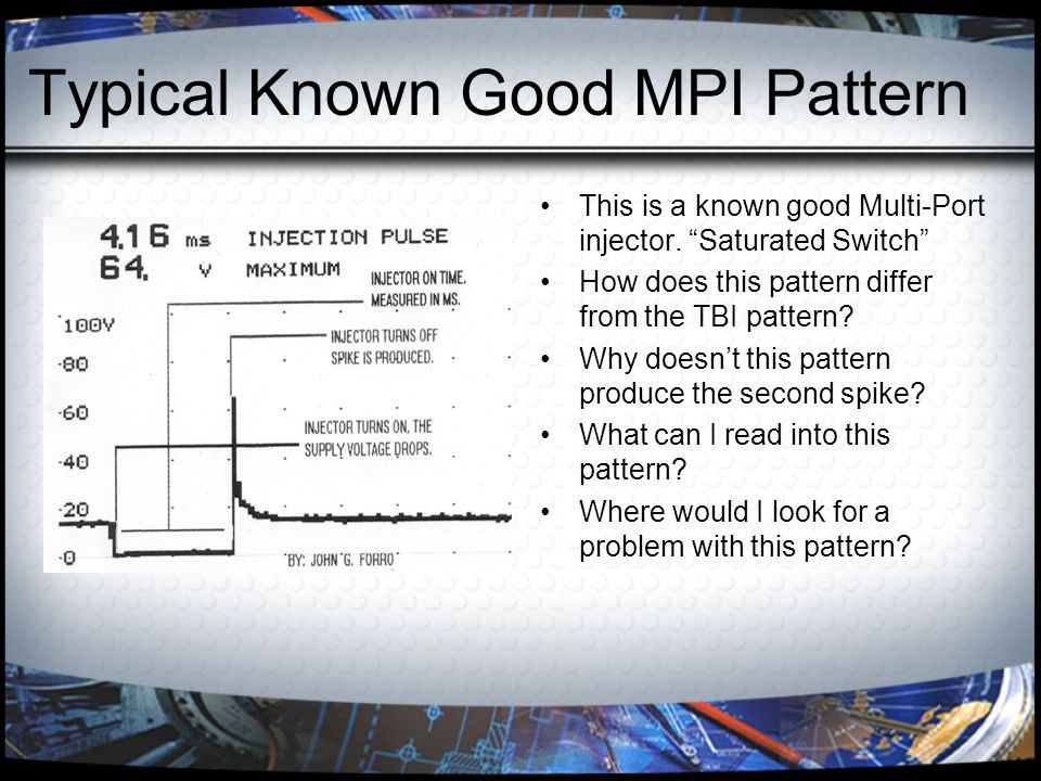 Injector Testing Procedures Flow Rate Why do this? How can this be done at our level?