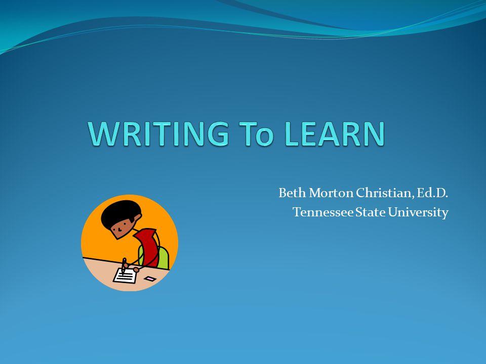 Beth Morton Christian, Ed.D. Tennessee State University