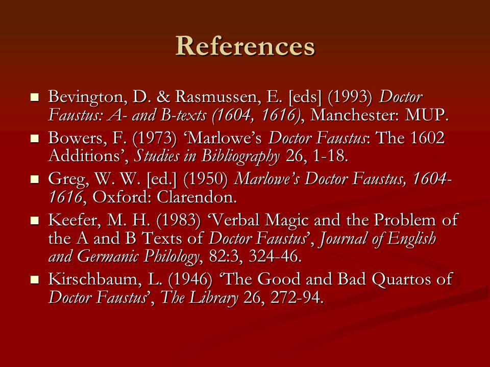 References Bevington, D. & Rasmussen, E.