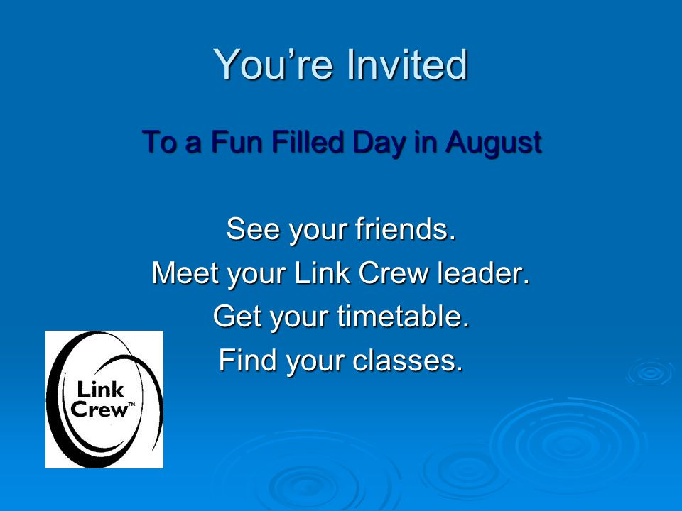 You're Invited To a Fun Filled Day in August See your friends.