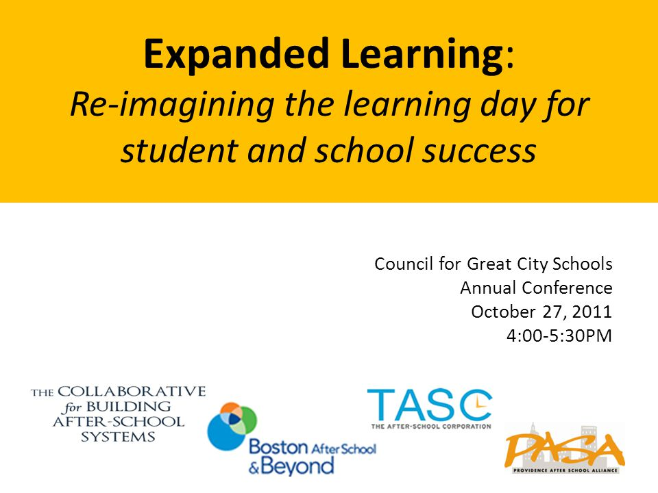 The Collaborative for Building After-School Systems (CBASS) is a partnership of intermediary organizations dedicated to increasing the availability of quality expanded learning opportunities.