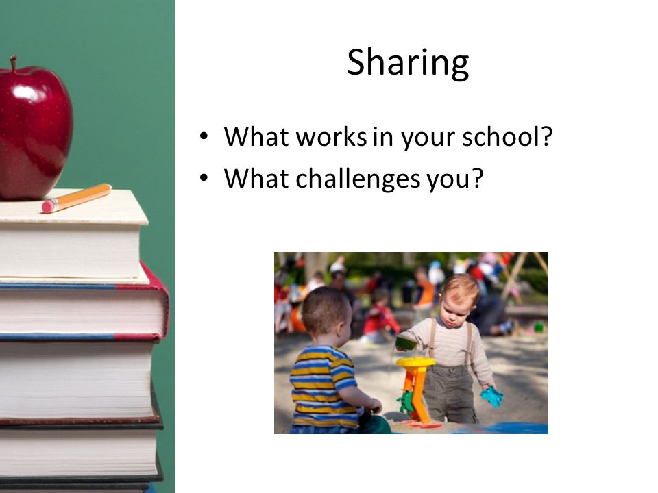 Sharing What works in your school What challenges you