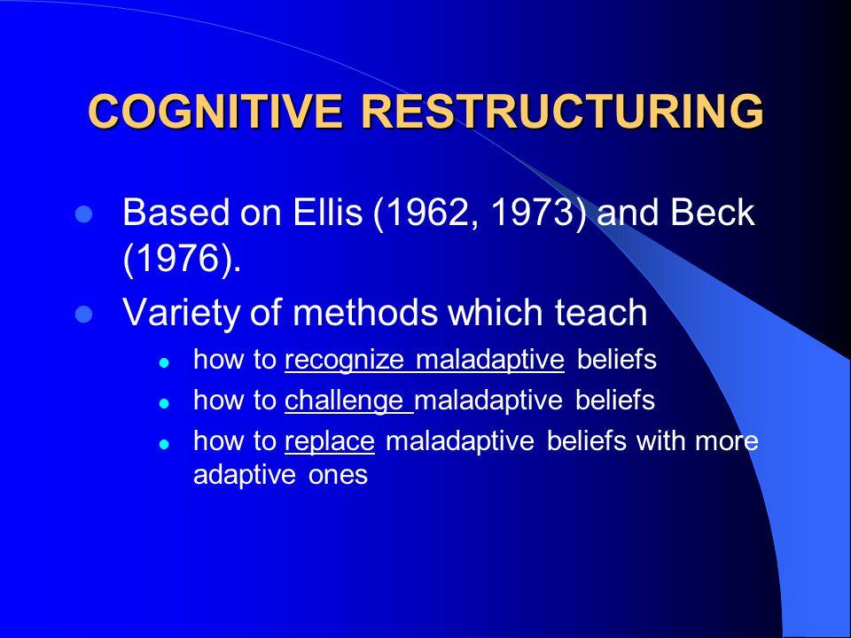 COGNITIVE RESTRUCTURING Based on Ellis (1962, 1973) and Beck (1976).