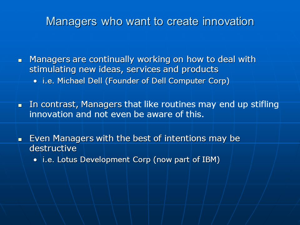 Class Question Do any of you all feel like work an innovative company?