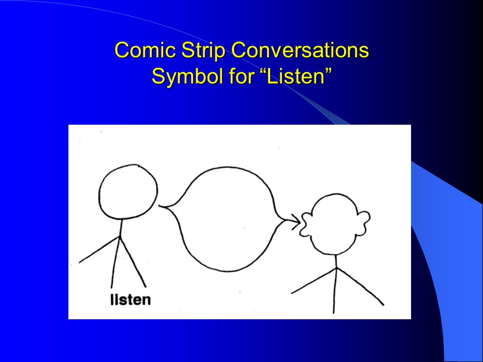 Comic Strip Conversations Symbol for Listen