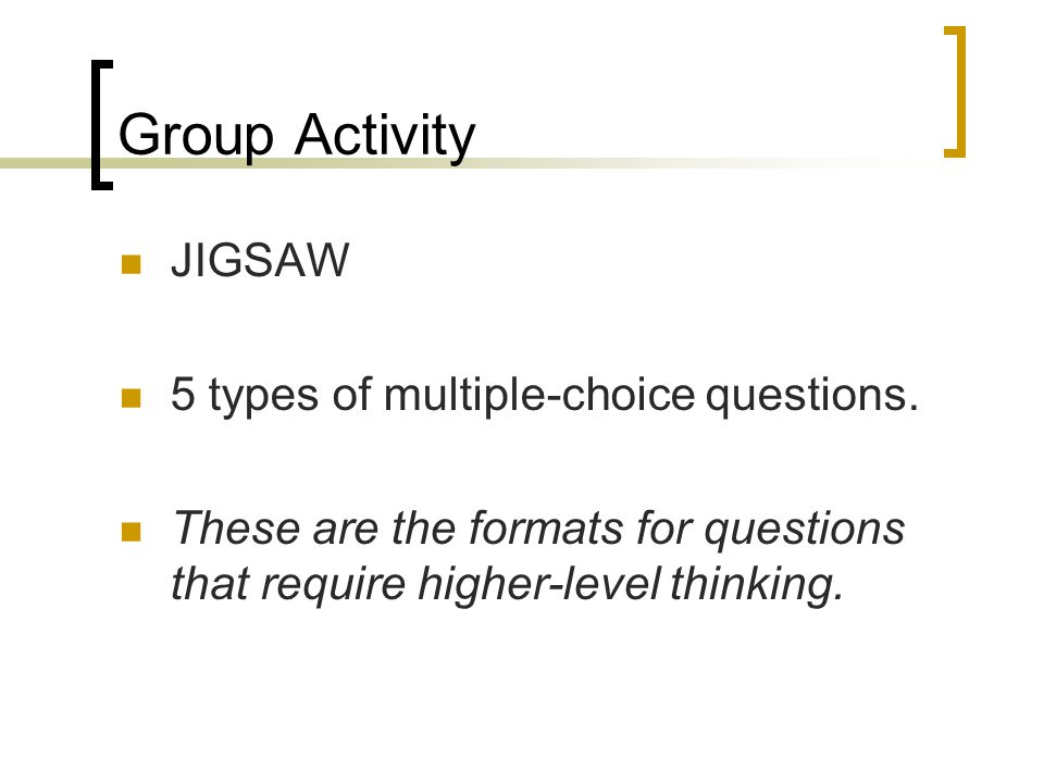 Multiple parts Each question labeled separately Each subsequent part relies on the student getting the first part correct.