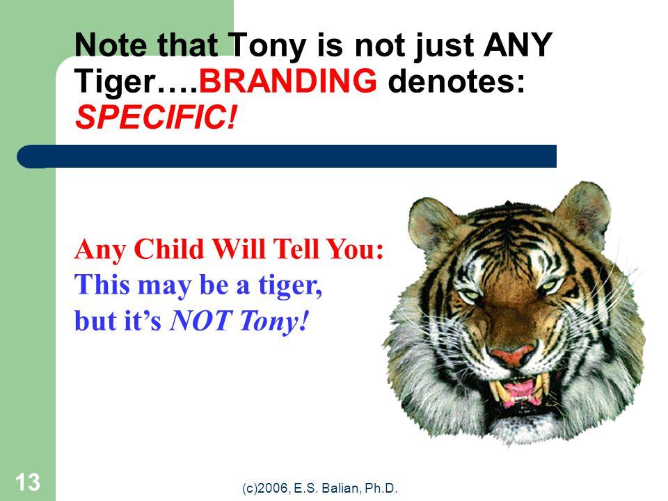 (c)2006, E.S. Balian, Ph.D. 12 Tony the Tiger (1957) (Character Logo) (Courtesy: Kellogg)
