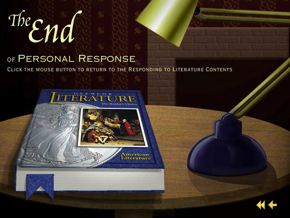 Personal Response 5 PERSONAL RESPONSE What images or details from this narrative linger in your mind?