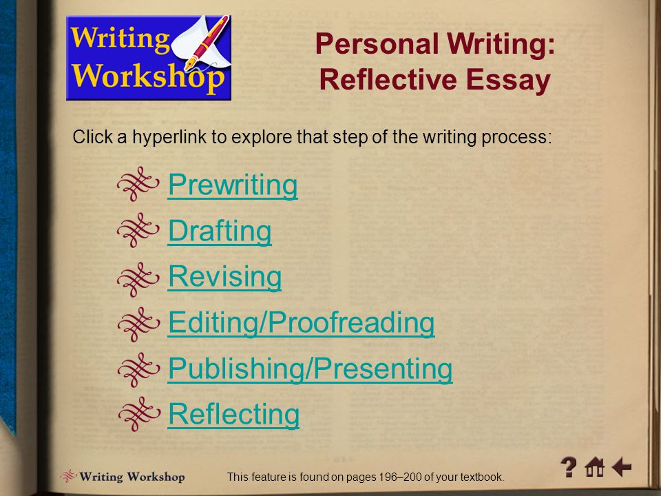 Writing Workshop 1 Personal Writing: Reflective Essay What does breaking free mean to you.