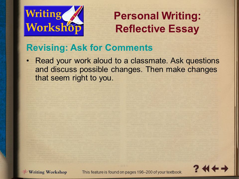 R Writing Workshop 12 Revising: Evaluate Your Work (cont.)  Which (if any) parts wander off the point.