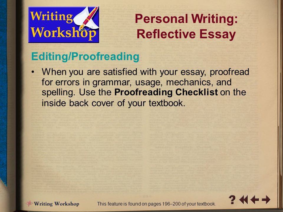 R Writing Workshop 13 Read your work aloud to a classmate.