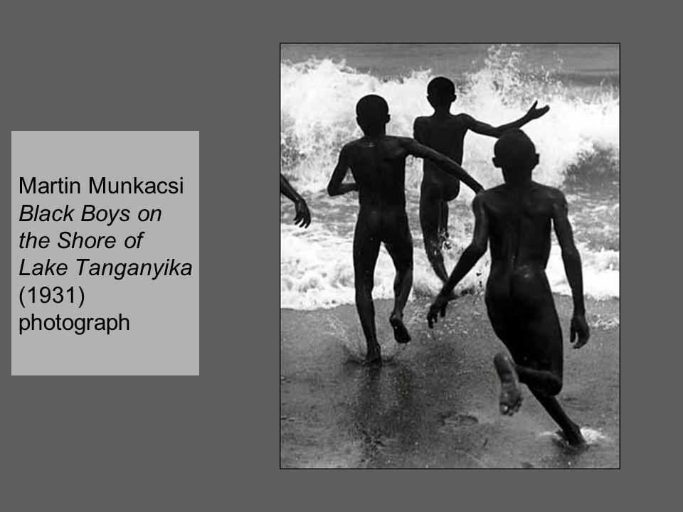 Martin Munkacsi Black Boys on the Shore of Lake Tanganyika (1931) photograph