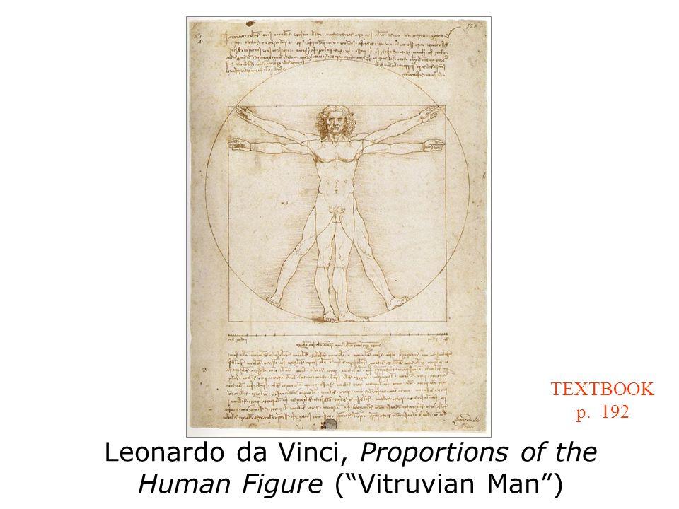 Leonardo da Vinci, Proportions of the Human Figure ( Vitruvian Man ) TEXTBOOK p. 192