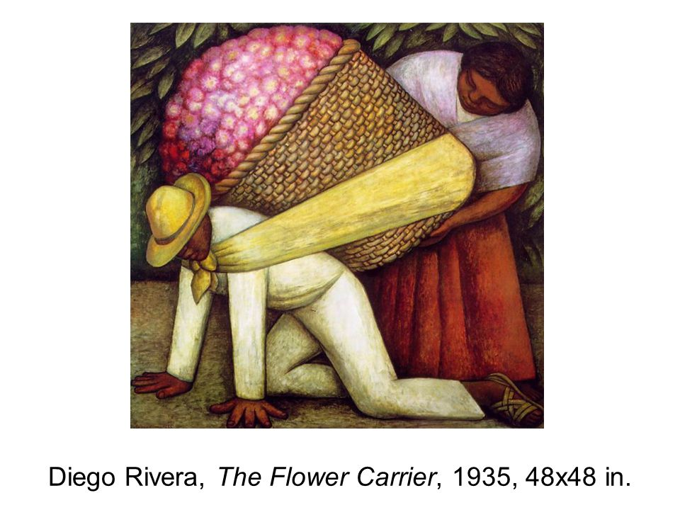 Diego Rivera, The Flower Carrier, 1935, 48x48 in.