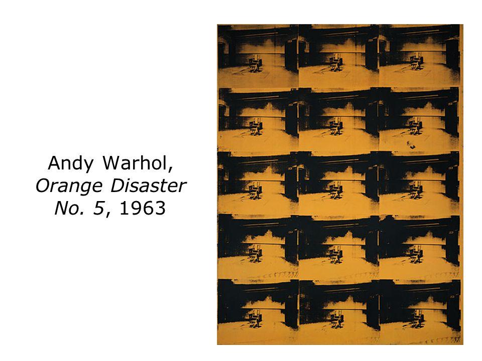 Andy Warhol, Orange Disaster No. 5, 1963