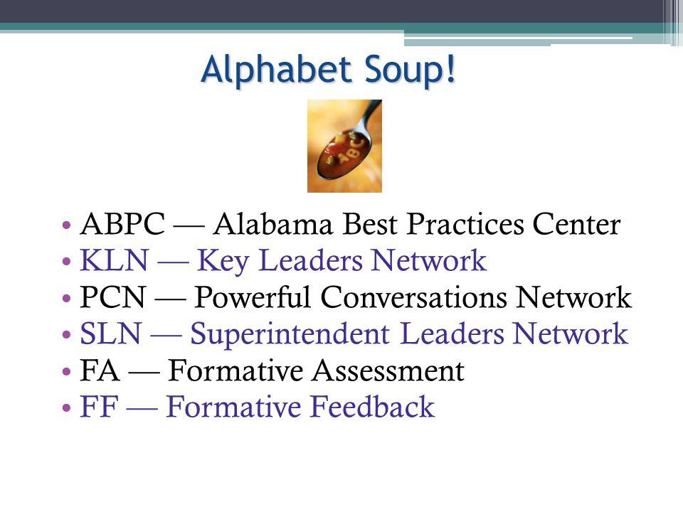 Alphabet Soup. Alphabet Soup.