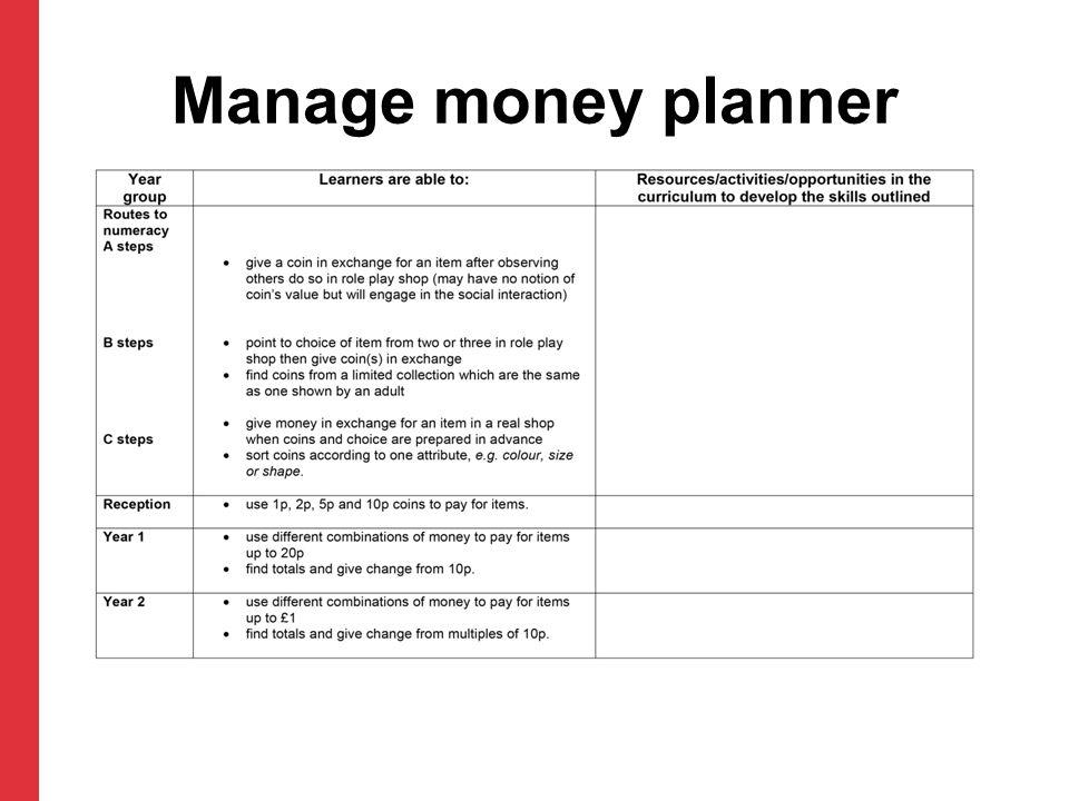 Manage money planner