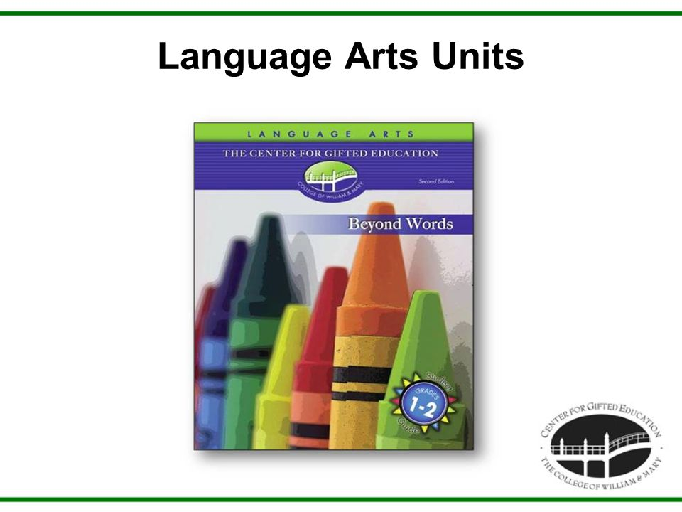 Language Arts Units