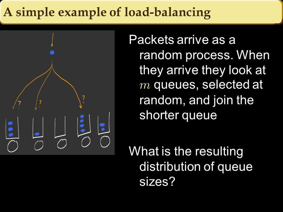 A simple example of load-balancing Packets arrive as a random process.