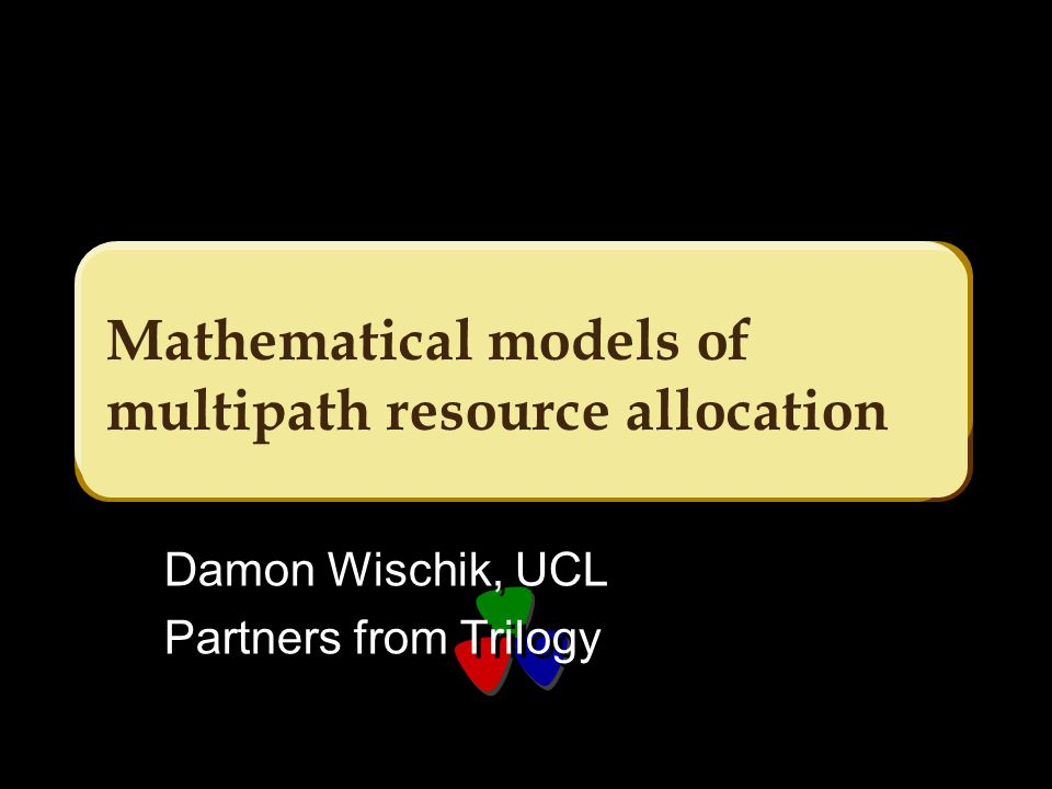No constraints but the network itself x1x1 x2x2 x3x3 What are the characteristics of a good rate allocation algorithm.