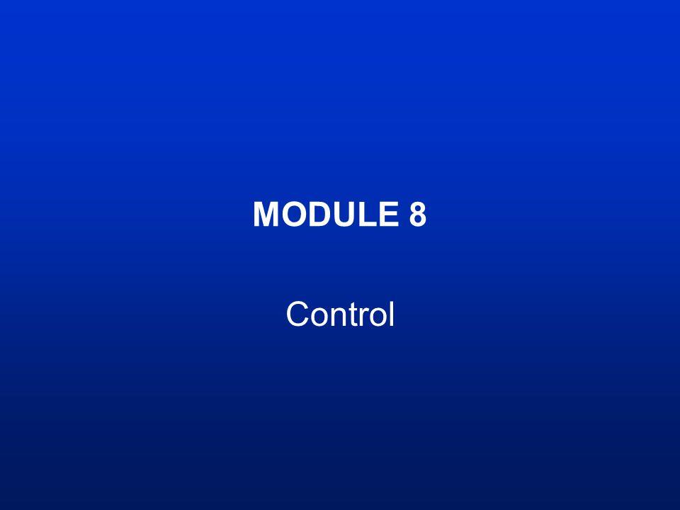 MODULE 8 Control