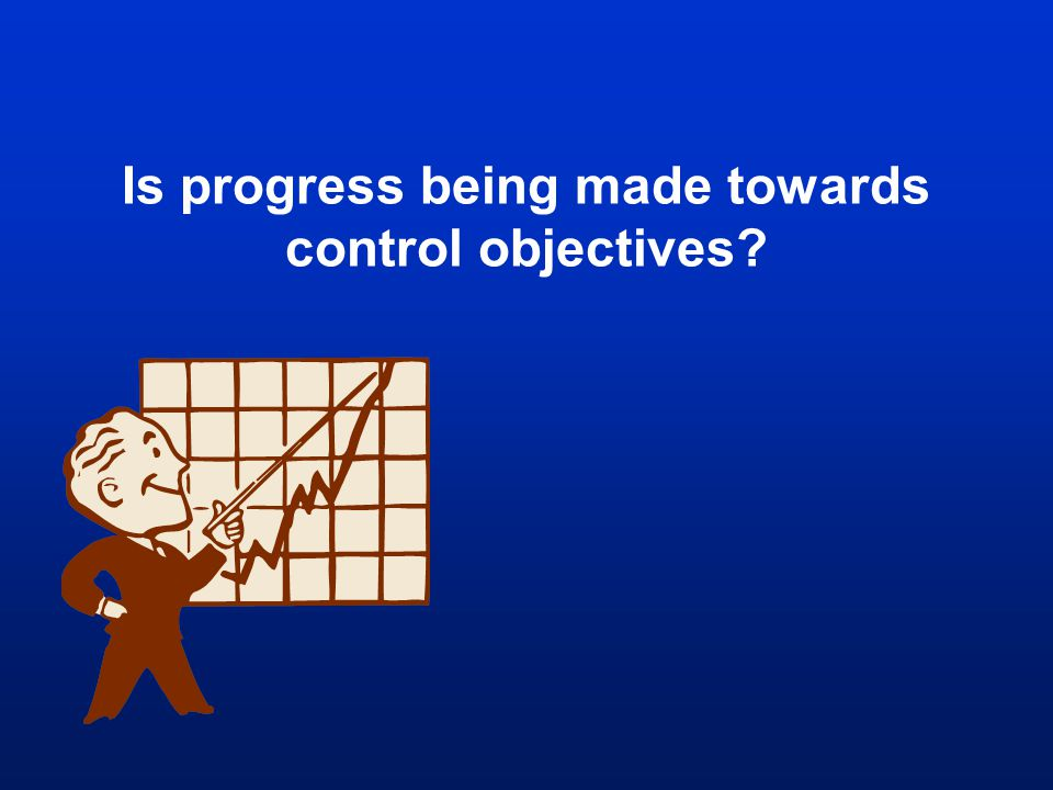 Is progress being made towards control objectives?