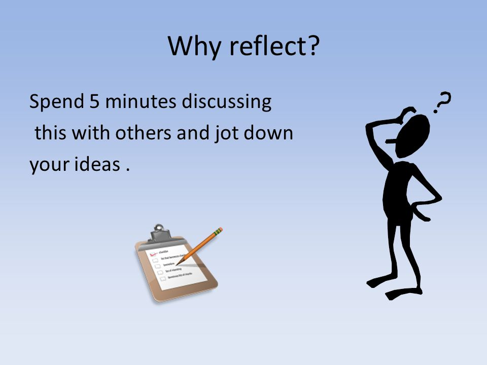 Why reflection is important to you .
