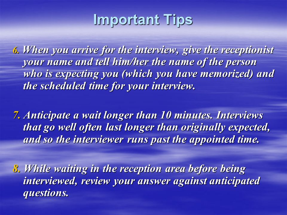 Important Tips 6.