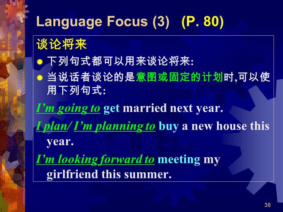 36 Language Focus (3) (P.