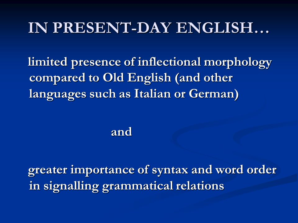 Translate into Italian and identify the main differences between the two languages 1.