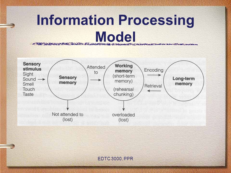 EDTC 3000, PPR Information Processing Model