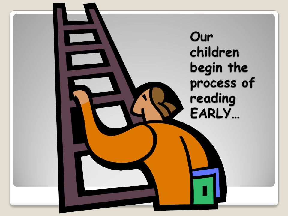 Our children begin the process of reading EARLY…