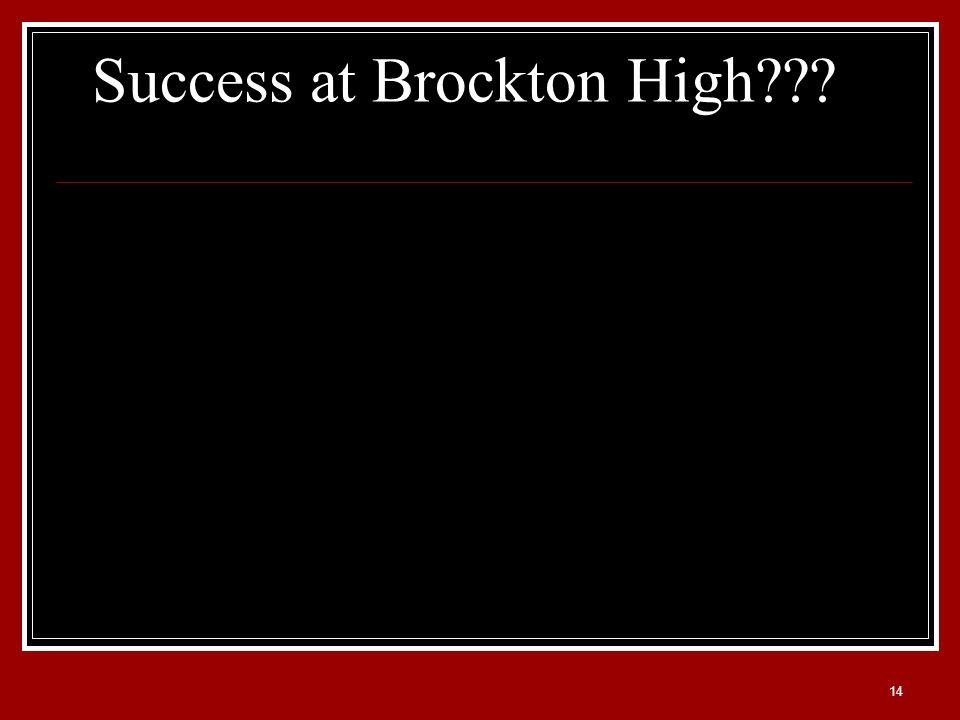14 Success at Brockton High???