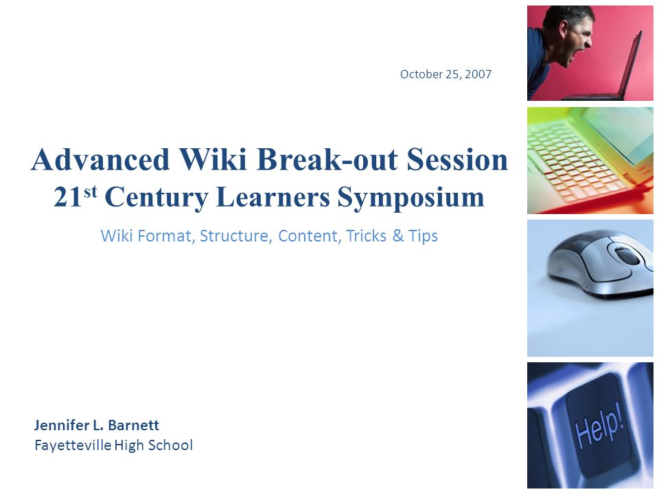 Advanced Wiki Session Topics Wiki Format Wiki Structure Wiki Contents Wiki Tricks & Tips