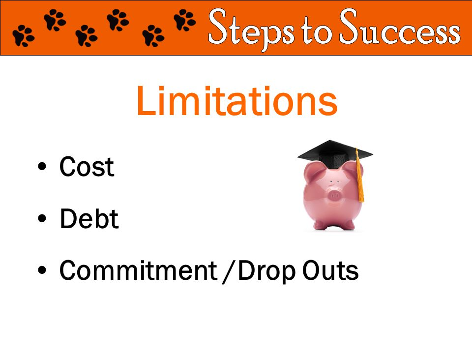 Limitations Cost Debt Commitment /Drop Outs