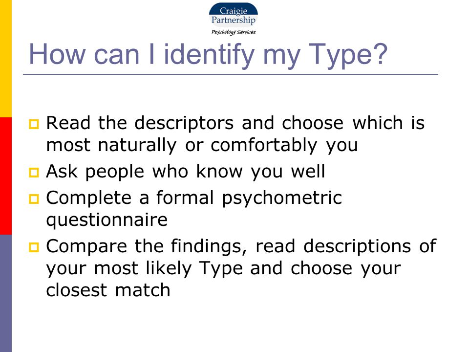 How can I identify my Type.