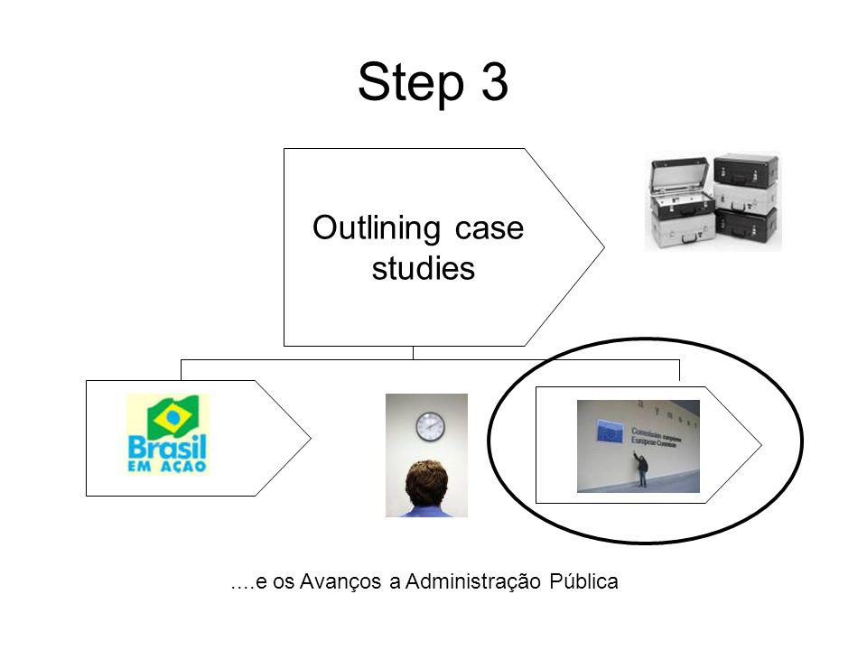 Step 3 Outlining case studies....e os Avanços a Administração Pública