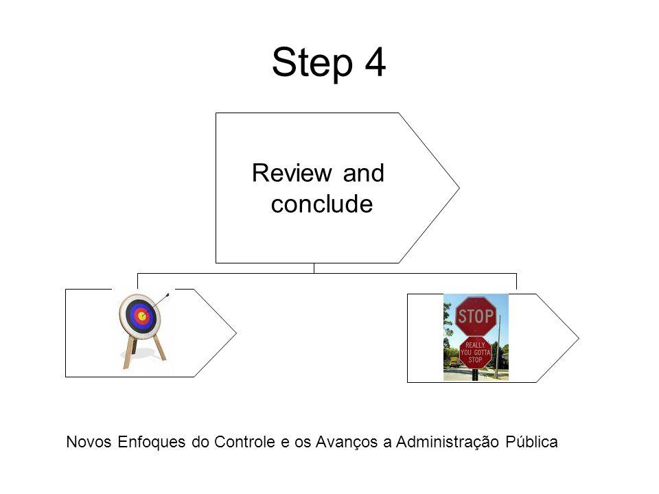 Step 4 Review and conclude Novos Enfoques do Controle e os Avanços a Administração Pública