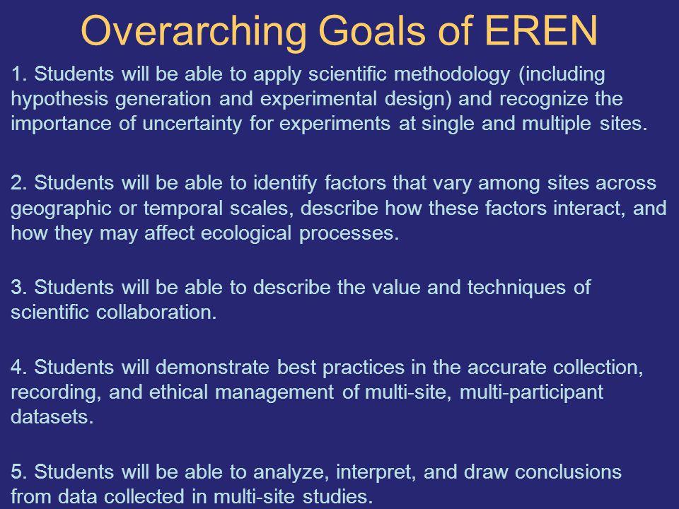 Overarching Goals of EREN 1.