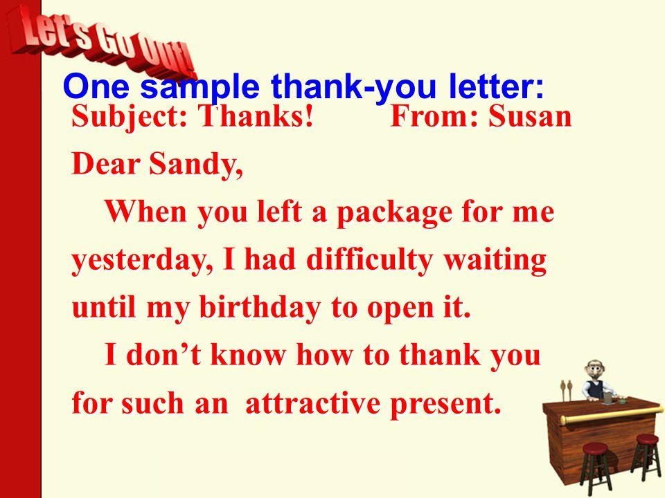 Subject: Thanks.