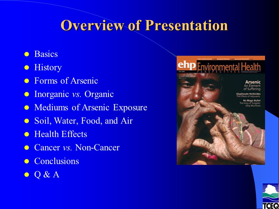 What Are the Final Drinking Water Regulatory Standards for Arsenic .