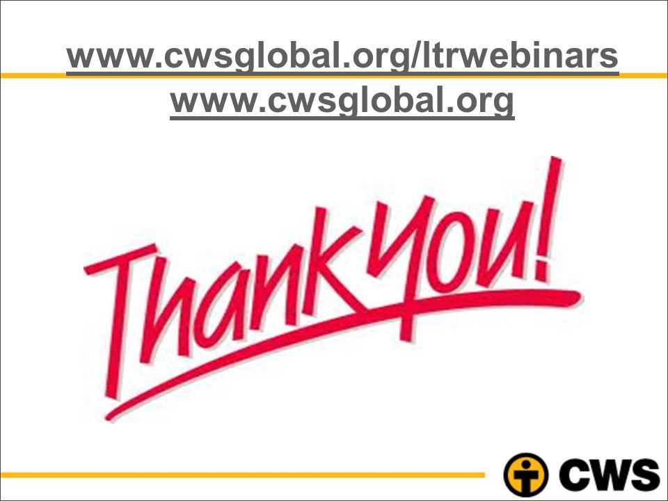 www.cwsglobal.org/ltrwebinars www.cwsglobal.org