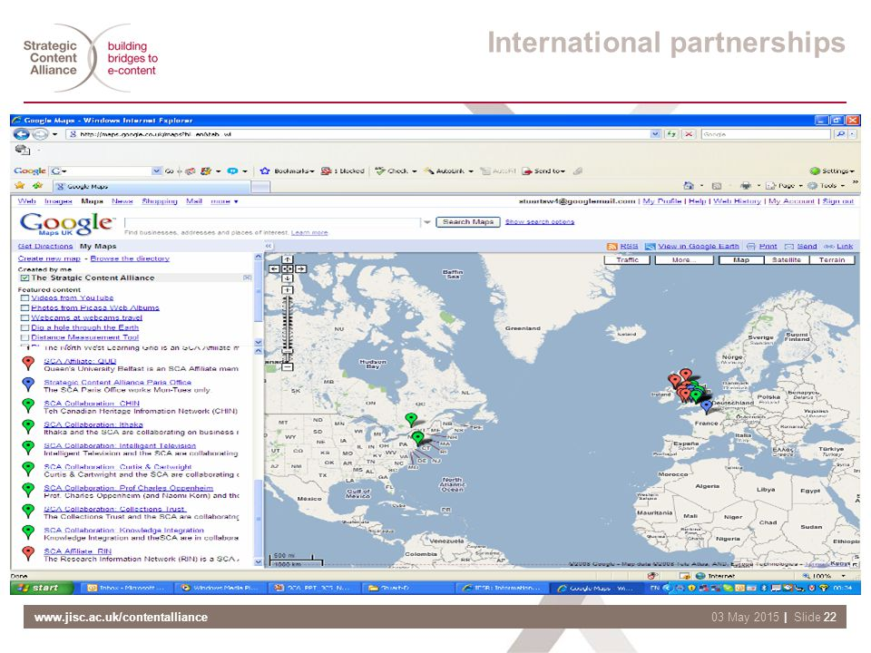 www.jisc.ac.uk/contentalliance| Slide 2203 May 2015 International partnerships