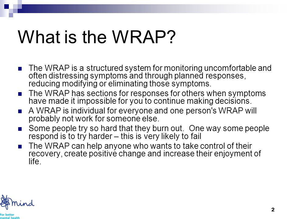 2 What is the WRAP.