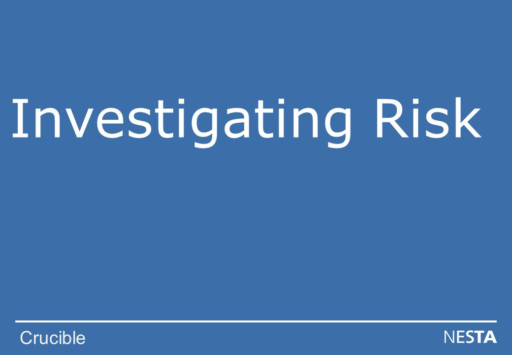 Crucible Investigating Risk