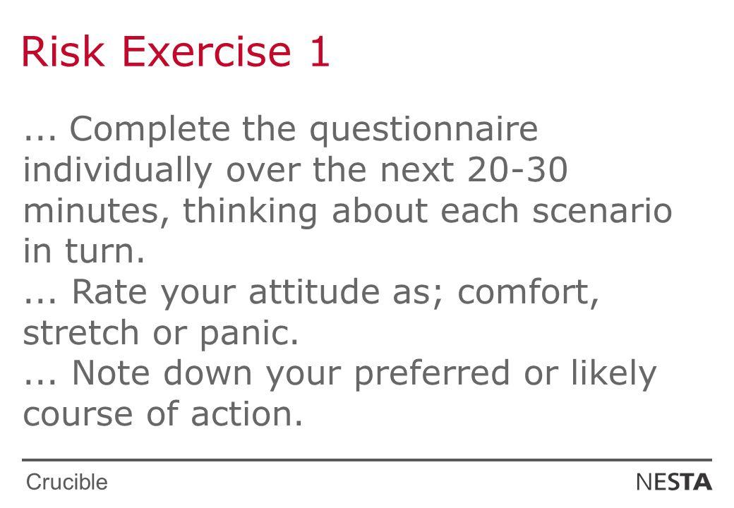 Crucible Risk Exercise 1...