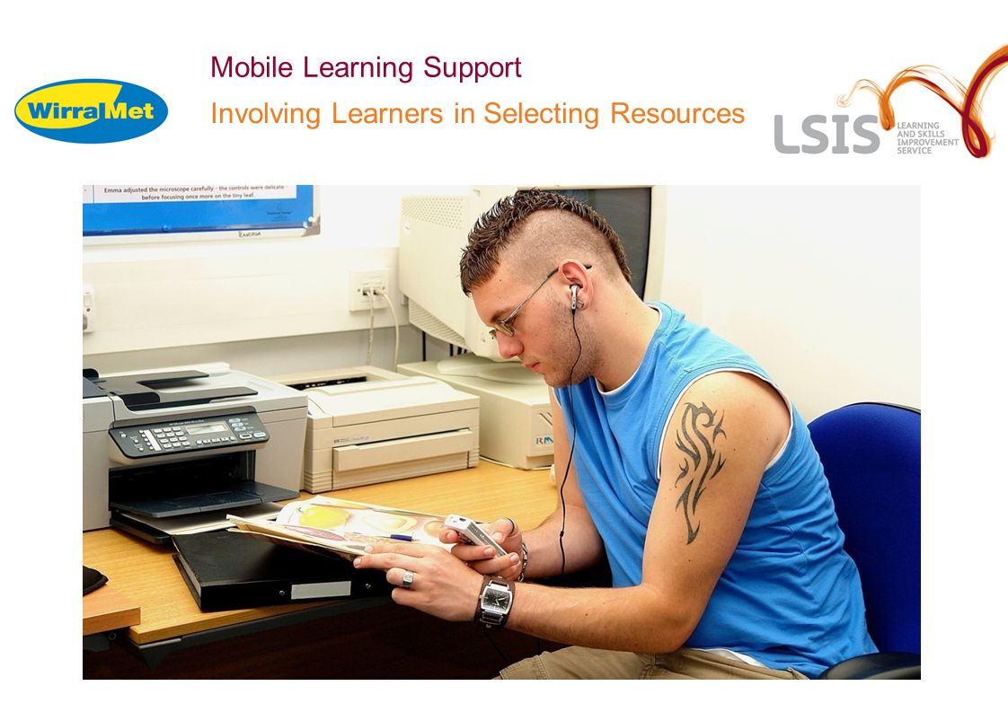 Mobile Learning Support Involving Learners in Selecting Resources